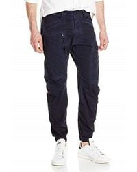 Powel 3D tapered cuffed Pantaloni di G-Star RAW in Blue da Uomo