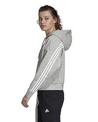 W Must Haves 3-Stripes Hoodie Glow Pink White Adidas en coloris Gray