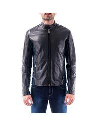 Luxury Fashion Uomo 52S003682P000079K299 Nero Ecopelle Giacca Outerwear | Autunno-Inverno 19 di Trussardi in Black da Uomo