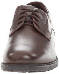 Rockport Brown Essential Details Waterproof Plain-toe Oxford for men