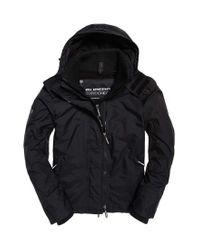 Arctic Hooded Pop Zip Windchea Veste de Sport Superdry pour homme en coloris Black