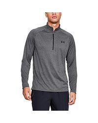 Under Armour Gray Tech 1/2 Zip 2.0 Long-sleeve Shirt for men