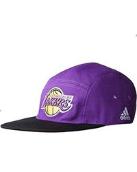 Adidas Purple Casquette Basketball Nba Los Angeles Lakers 5 P Cap Violet M33700 for men