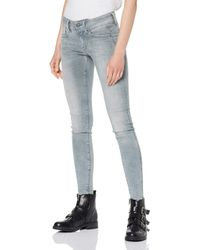 Lynn Mid-Waist Skinny Jeans di G-Star RAW in Blue