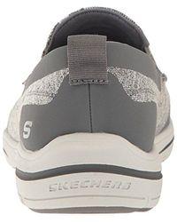 Skechers Gray Usa Harper Moven Slip-on Loafer for men