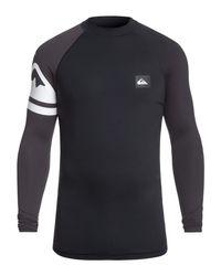 Quiksilver Long Sleeve UPF 50 Rash Vest for in Black für Herren