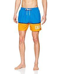 Medium Drawstring, Costume da Bagno Uomo, Blu (Electric Blue Lemonade 413), Small di Calvin Klein da Uomo