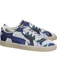 PUMA X Careaux Basket Graphic Twilight Blue/halogen Blue Athletic Shoe (8.5, Twilight Blue/halogen Blue)