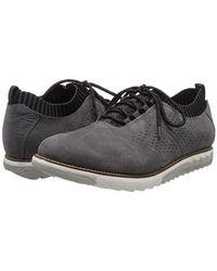 Hush Puppies Herren Expert Knit Oxford Sneaker, Schwarz in Gray für Herren