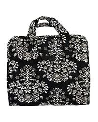 Vera Bradley Black Hanging Organizer, Signature Cotton