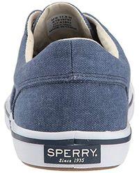 Sperry Top-Sider Blue Striper Ii Cvo Washed Sneaker, Navy, 9 Wide Us for men