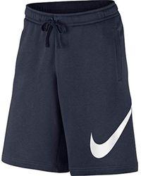 Nike Blue M Nsw Club Short Exp Bb for men