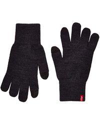 Ben Touch Screen Gloves Gants Levi's pour homme en coloris Gray
