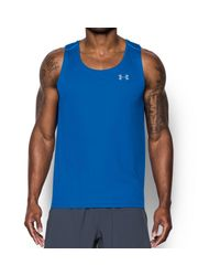 Under Armour Blue Ua Coolswitch Run Singlet V2 -adult