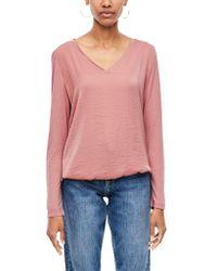 S.oliver Pink RED Label Blusenshirt mit V-Neck ash Rose 44