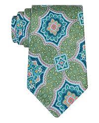 Geoffrey Beene - Green Medallion Culture Tie for Men - Lyst