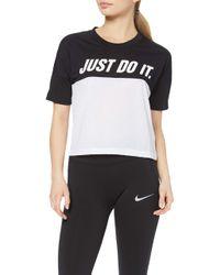 Tailwind Top Short-Sleeve SD Sport Shirt di Nike in Black