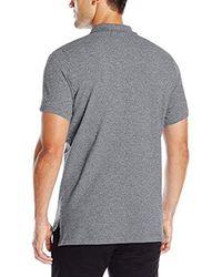 U.S. POLO ASSN. - Black Twisted-yarn Polo Shirt for Men - Lyst