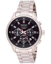 Orologio Cronografo Quarzo Uomo con Cinturino in Acciaio Inox SKS587P1 di Seiko in Black da Uomo