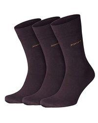 Calze Uomo 'Fine Cotton ' pacchetto da 3 - calze business di alta qualità da Cotone di Joop! in Multicolor da Uomo