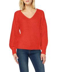 Vero Moda Red Vmpoca Ls Pullover
