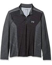 Under Armour Gray Threadborne Seamless 1/4 Zip T-shirt for men