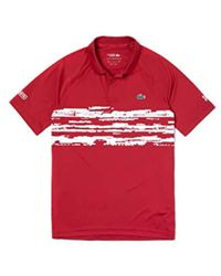 Lacoste Red Short Sleeves Polo for men