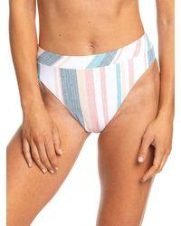 Bas de Bikini Taille mi-Haute - - M Roxy en coloris White