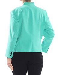 Nine West Blue Bi Stretch Kiss Front Jacket