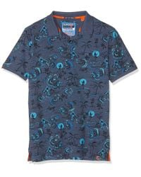 Superdry Blue City Surf Polo Shirt for men