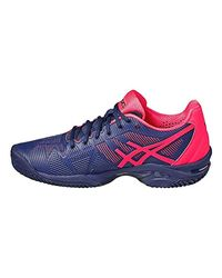 Chaussures femme Gel-solution Speed 3 Clay Asics de color Blue