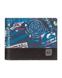 Quiksilver Blue Bi-fold Leather Wallet - Boys 8-16 - One Size for men