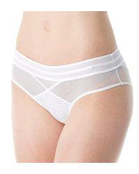 Calvin Klein White Mixed Mesh Bikini
