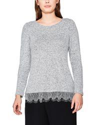 117ee1k002 T-Shirt À ches Longues Esprit en coloris Gray