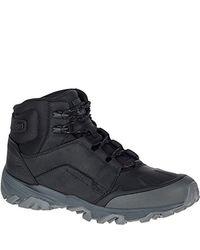 "Merrell - Black Coldpack Ice+ 8"" Zip Polar Wtp Snow Boot for Men - Lyst"