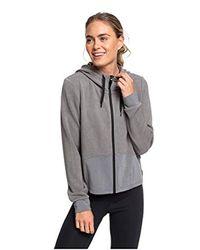 Sweat à Capuche de Sport zippé pour Roxy en coloris Gray