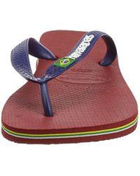 Havaianas Unisex Brasil Logo Zehentrenner, Mehrfarbig (red 1440), 37/38 EU ( 35/36 Brazilian) für Herren