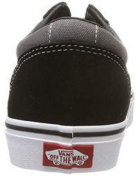 Ward Suede/Canvas, Baskets Vans pour homme en coloris Black