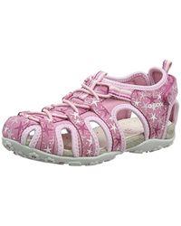 Geox Pink Mädchen Jr Roxanne C Geschlossene Sandalen mit Keilabsatz