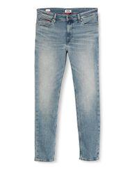 Uomo Simon Skinny Wstrm Straight Jeans di Tommy Hilfiger in Blue da Uomo