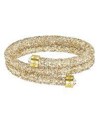 5294896 Crystaldust Bracelet double Doré Taille M Swarovski en coloris Metallic