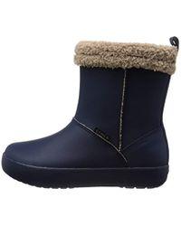 Crocs™ Blue Colorlite Snug Boot Gs Unisex-Kinder Stiefel & Stiefeletten