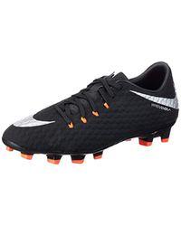 Hypervenom Phelon III FG, Chaussures de Football Nike pour homme en coloris Black