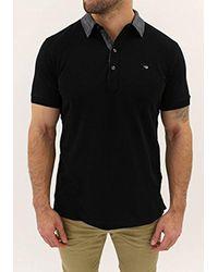 DIESEL Black T-antho Polo Shirt for men