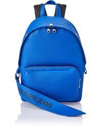 ZAINO UOMO BLU 39X26X13.5 CM di Calvin Klein in Blue da Uomo