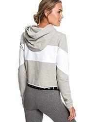 Roxy Gray Kürzerer Yoga-Kapuzenpulli für Frauen