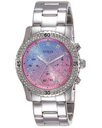 Orologio Multi-quadrante Quarzo Donna con Cinturino in Acciaio Inox W0774L1 di Guess in Multicolor