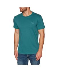 Superdry Orange Label Lite Short Sleeve T-shirt Medium Petrol Green for men