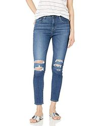 Levi's Blue 721 High Rise Skinny Ankle Jeans