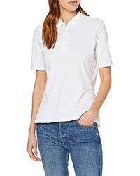 Tommy Hilfiger White Damen Th Essential Reg Polo Ss Poloshirt